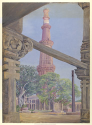The Kutub and iron Pillar. Delhi. India. Novr. 1878